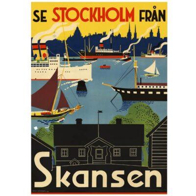 Poster Stockholm Skansen