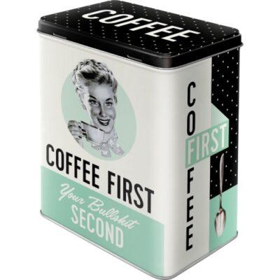 Plåtburk Coffee First 3L