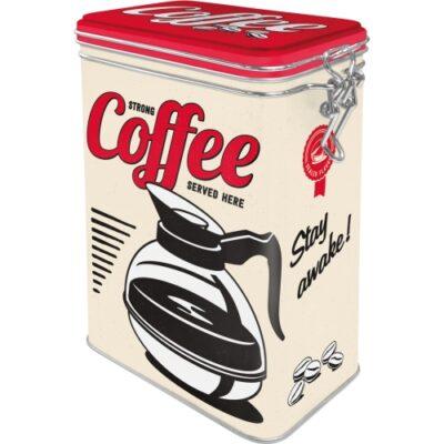 Plåtburk Clip Top Box Strong Coffee 1,3L