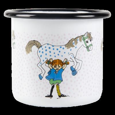 Pippi Emaljmugg – Pippi och Lilla Gubben 2,5dl