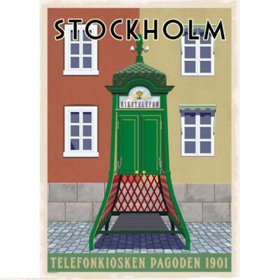 Poster Telefonkiosk