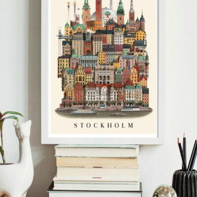 Poster Stockholm 29,7×42 cm