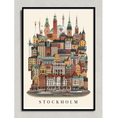 Poster Stockholm 50×70 cm