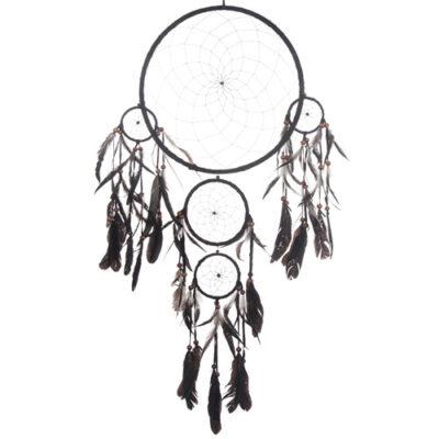 Drömfångare 5-ringar 40cm Svart