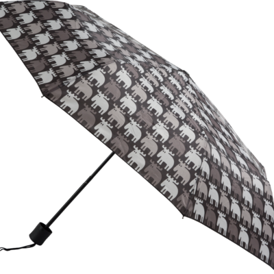 MOZ Hopfällbart Paraply, Svart/Grå