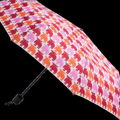 MOZ Hopfällbart Paraply, Röd/Rosa