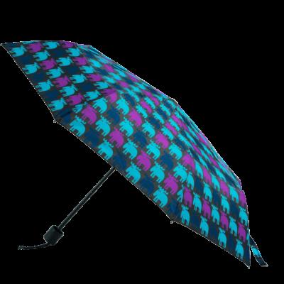 MOZ Hopfällbart Paraply, Blå/Lila