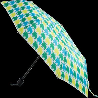 MOZ Hopfällbart Paraply, Lime/Grön/Turkos