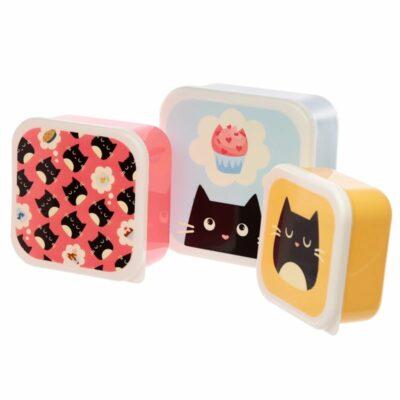 3-Pack Lunchlådor XL – Feline Fine Katt