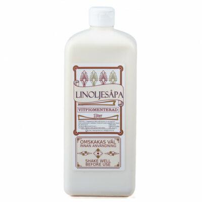Vitpigmenterad Linoljesåpa – 1 Liter