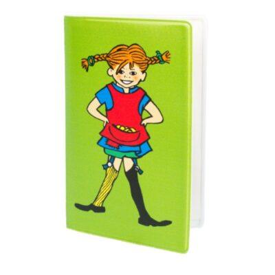 Plånka/Kortfodral Pippi Grön