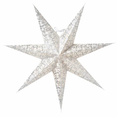 Ludwig Julstjärna 60cm Silver