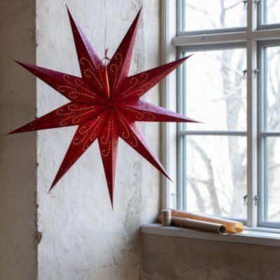Ludwig Julstjärna 60 cm Röd
