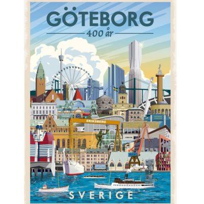Poster Göteborgs Skyline
