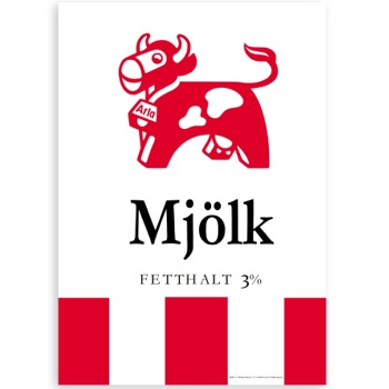 Poster Mjölk 50x70cm