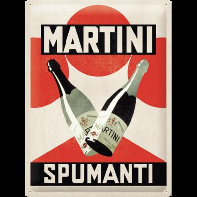 "Metallskylt ""Martini Spumanti"" 30x40cm"