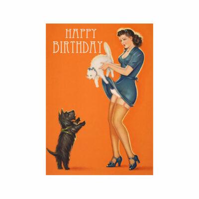 Dubbelt Kort – Cat&Dog, Happy Birthday