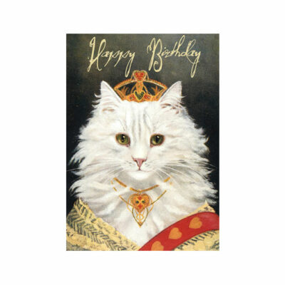 Dubbelt Kort – Queen Puss, Happy Birthday Glitter