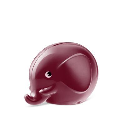 Norsu Sparelefant 11cm Burgundy