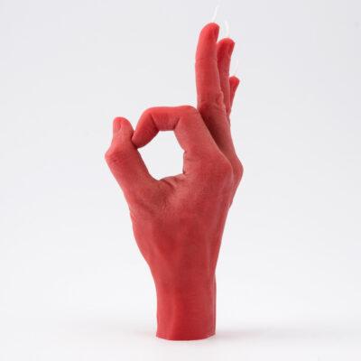 Candle Hand – OK Röd