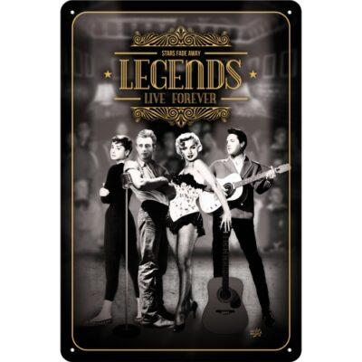 "Metallskylt ""Legends Live Forever"" 20x30cm"