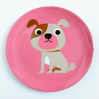 Melamintallrik – Hund Rosa