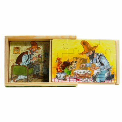 Pettson & Findus Träpussel 4-Pack