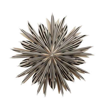 Leah Julstjärna – 50cm Vit/Svart