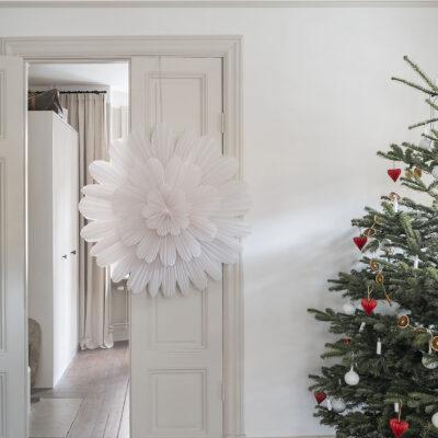 Snöblomma Julstjärna – 100cm Vit