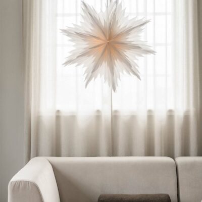 Oslo Julstjärna – 80cm Vit